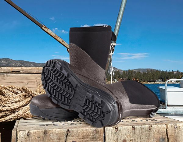 Safety Wellingtons S5: e.s. S5 Neoprene safety boots Kore high + chestnut/black 2