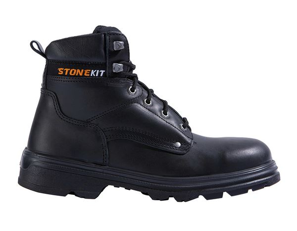 Safety Shoes S3: STONEKIT S3 Safety boots Bob + black