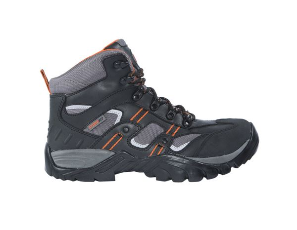 Safety Shoes S3: STONEKIT S3 Safety boots Torino + black/orange