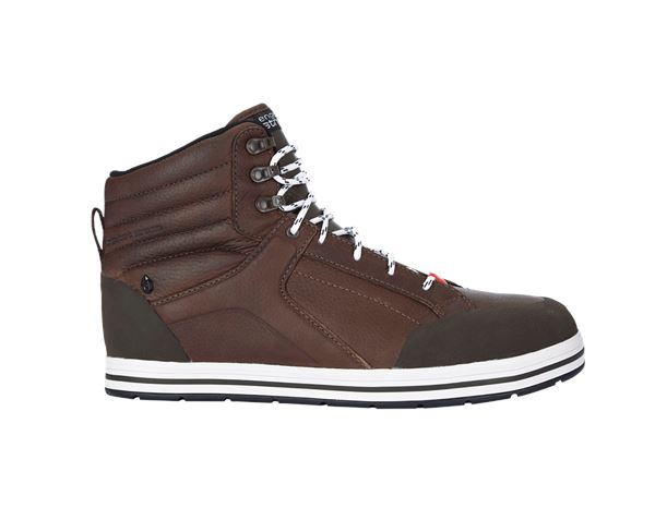 Safety Shoes S3: e.s. S3 Safety boots Spes mid + chestnut