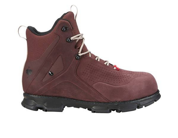 Safety Shoes S3: e.s. S3 Safety boots Barrex mid + bordeaux