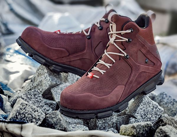Safety Shoes S3: e.s. S3 Safety boots Barrex mid + bordeaux 1