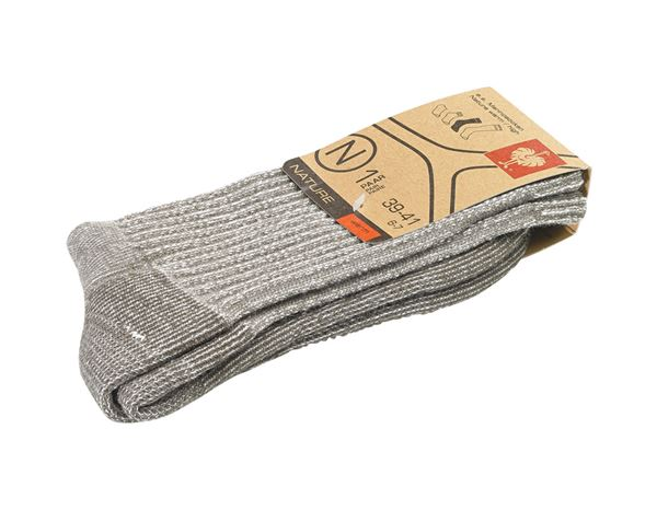 Socks: e.s. Merino socks Nature warm/high + terra melange 1