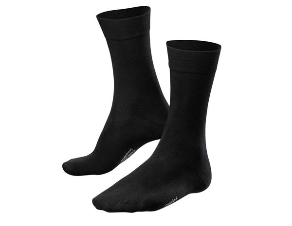 Socks: e.s. Business socks classic light/high, pack of 2 + black