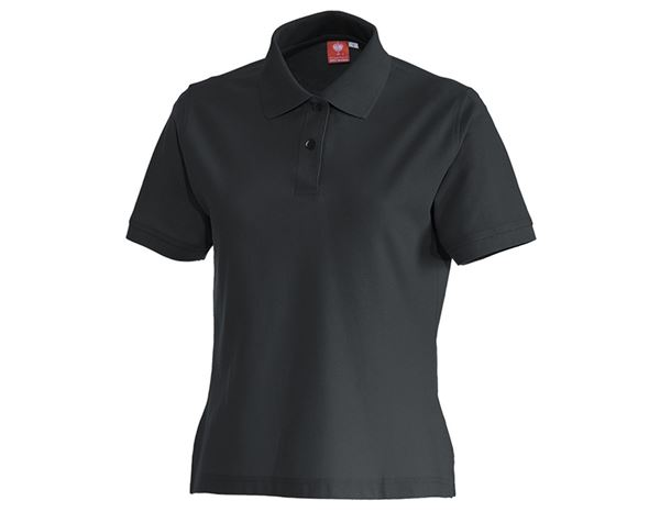 Överdelar: e.s. Polo-Shirt cotton, dam + antracit