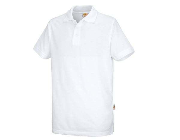 Polo-Shirts: STONEKIT Polo-shirt Basic + white