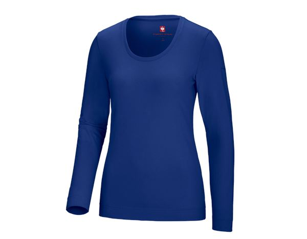 Shirts, Pullover & more: e.s. Long sleeve cotton stretch, ladies' + royal