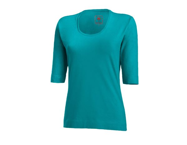 Shirts, Pullover & more: e.s. Shirt 3/4 sleeve cotton stretch, ladies' + ocean
