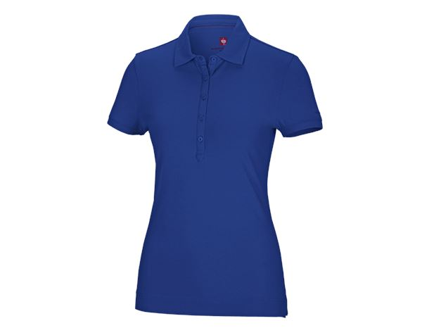 Shirts, Pullover & more: e.s. Polo shirt cotton stretch, ladies' + royal