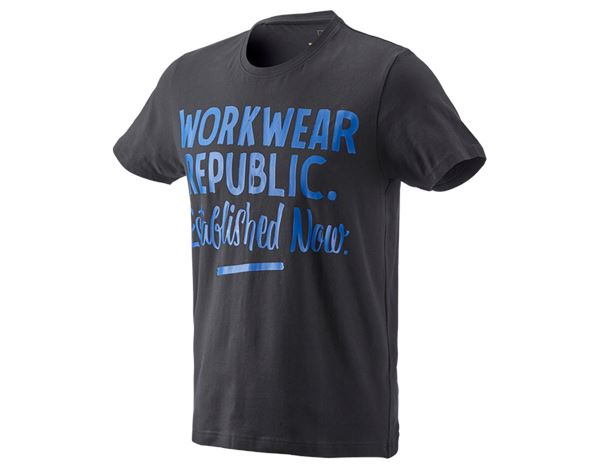 Shirts, Pullover & more: e.s. T-shirt workwear republic + graphite/gentian blue