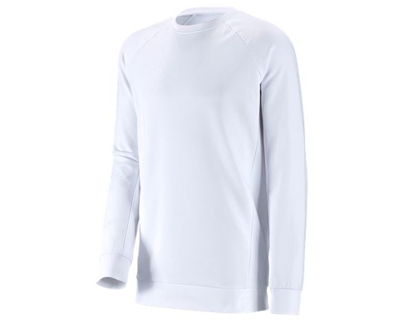 Överdelar: e.s. Sweatshirt cotton stretch, long fit + vit