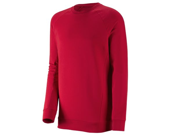 Shirts, Pullover & more: e.s. Sweatshirt cotton stretch, long fit + fiery red