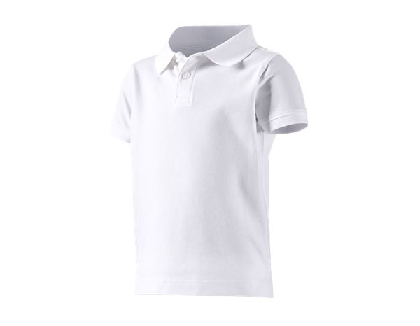 Shirts, Pullover & more: e.s. Polo shirt cotton stretch, children's + white