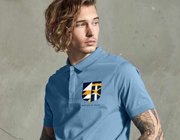 Shirts, Pullover & more: e.s. Polo shirt Masters of Craft + stone blue 1