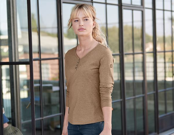 Shirts, Pullover & more: Long sleeve e.s.vintage, ladies' + sepia melange 1