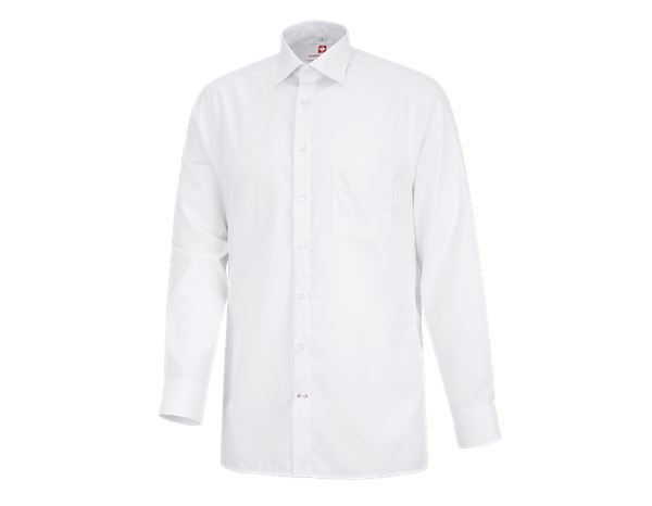 Shirts: Business shirt e.s.comfort, long sleeved + white