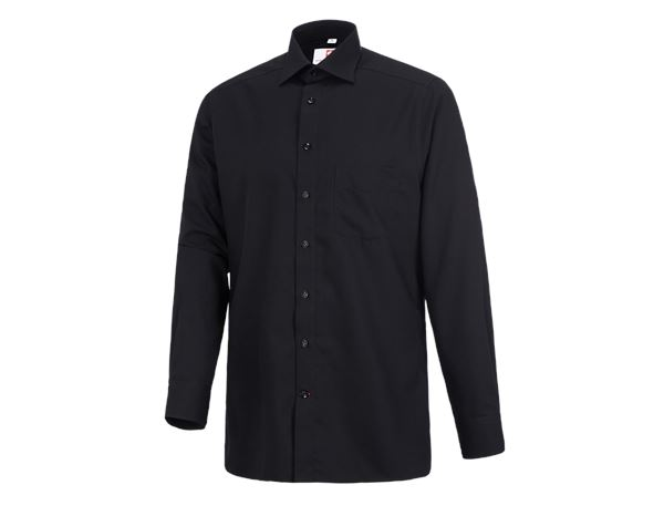 Shirts: Business shirt e.s.comfort, long sleeved + black