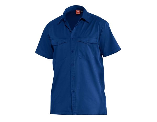 Shirts, Pullover & more: Work shirt e.s.classic, short sleeve + royal
