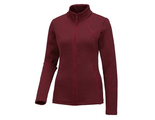 Shirts, Pullover & more: e.s. Functional sweat jacket melange, ladies + ruby melange