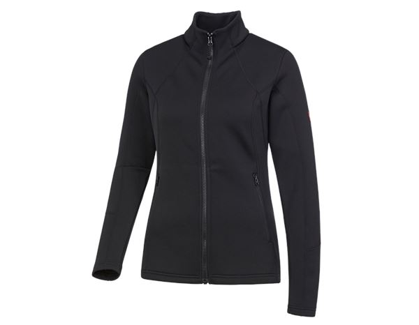 Work Jackets: e.s. Functional sweat jacket melange, ladies + black