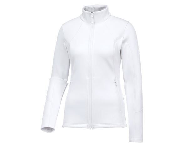 Shirts, Pullover & more: e.s. Functional sweat jacket melange, ladies + white