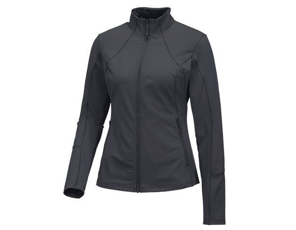 Shirts, Pullover & more: e.s. Functional sweat jacket solid, ladies + anthracite