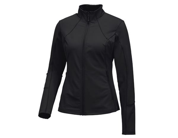 Shirts, Pullover & more: e.s. Functional sweat jacket solid, ladies + black