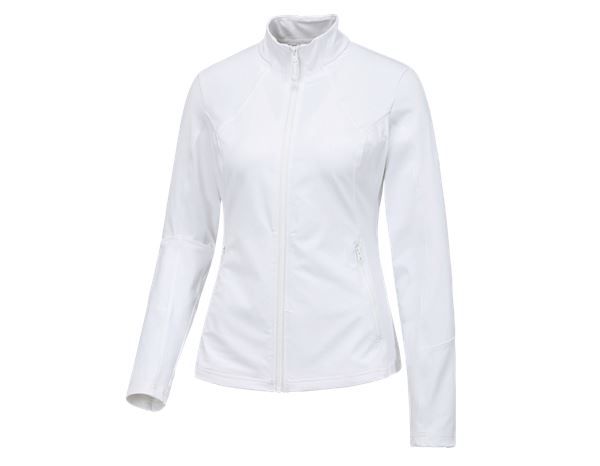 Work Jackets: e.s. Functional sweat jacket solid, ladies + white