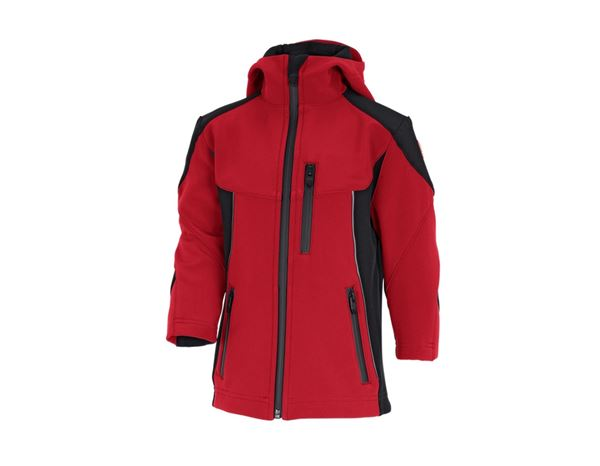 Jackets / Body Warmer: Softshell jacket e.s.vision, children's + red/black