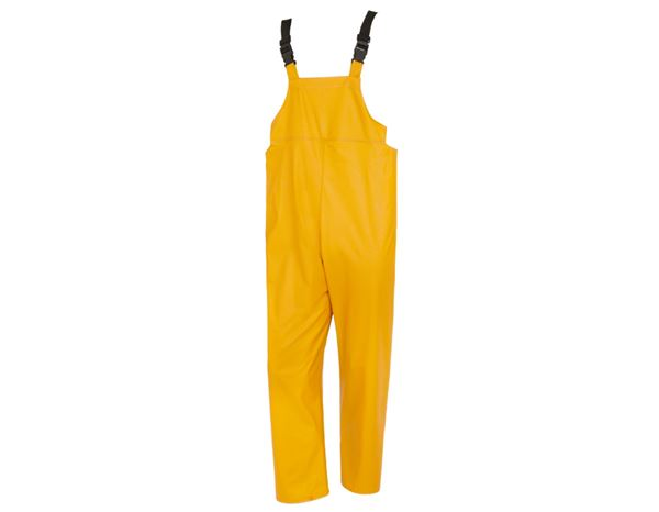 Waterproof Trousers: Flexi-Stretch bib and brace + yellow