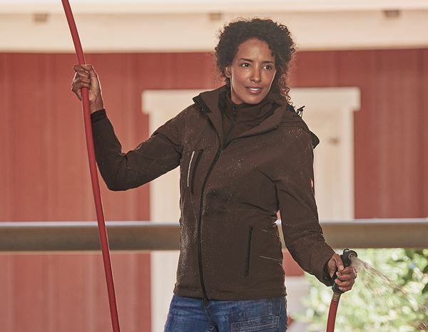 Work Jackets: 3 in 1 functional jacket e.s.vision, ladies' + chestnut