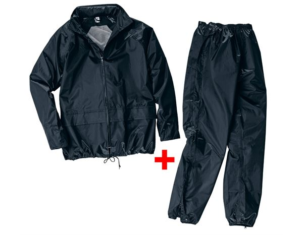 Rain Jackets: Rain jacket/trousers set + black