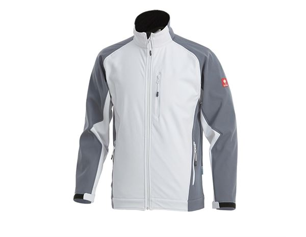 Softshell Jackets: Softshell Jacket dryplexx® softlight + white/grey