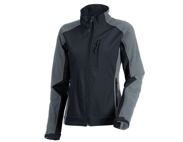 Work Jackets / Body Warmer: Ladies' softshell jacket dryplexx® softlight + graphite/cement