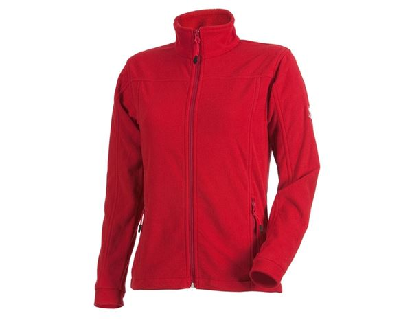 Work Jackets: Ladies' Fleece Jacket e.s.classic + red
