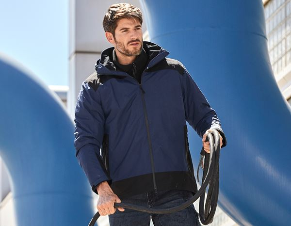 Work Jackets: e.s. 3 in 1 functional jacket, men + navy/black