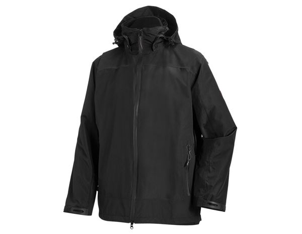 Work Jackets: e.s. 3 in 1 functional jacket, men + black