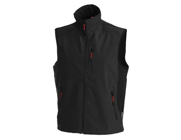 Body Warmer: Softshell bodywarmer dryplexx® softlight + black