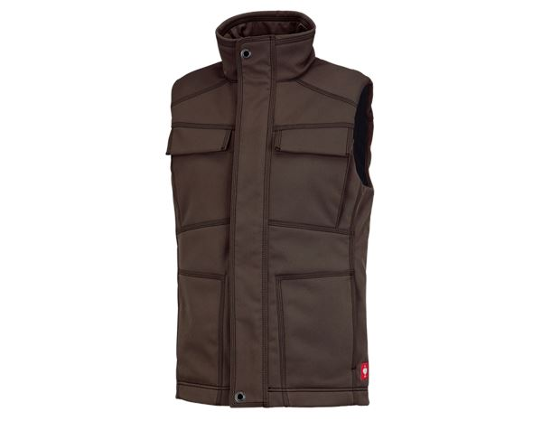 Body Warmer: Winter softshell bodywarmer e.s.roughtough + bark