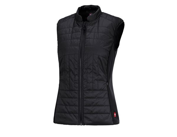 Work Body Warmer: e.s. Function quilted bodywarmer thermo stretch,l. + black