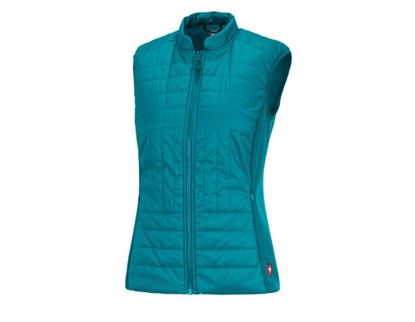 Work Jackets / Body Warmer: e.s. Function quilted bodywarmer thermo stretch,l. + ocean