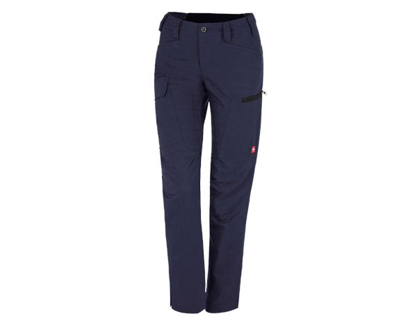 Work Trousers: e.s. Trousers pocket, ladies' + navy