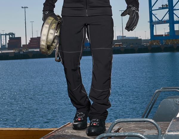 Work Trousers: Functional cargo trousers e.s.dynashield + black