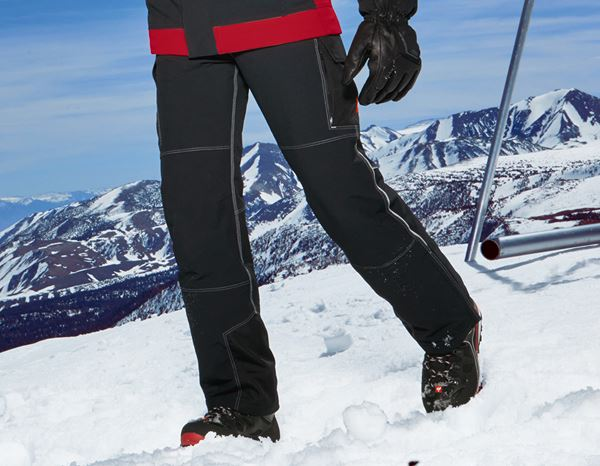 Work Trousers: Functional trousers snow e.s.dynashield + black