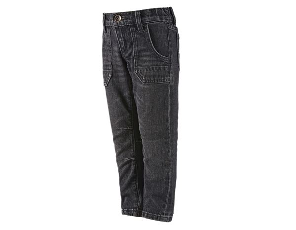 Trousers: e.s. Jeans POWERdenim, children's + blackwashed