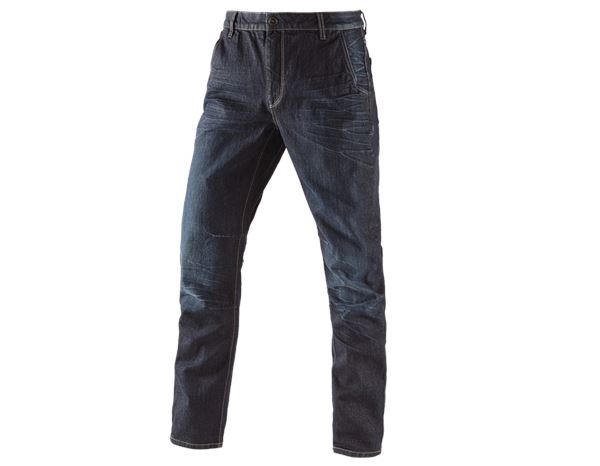 Work Trousers: e.s. 5-pocket jeans POWERdenim + darkwashed
