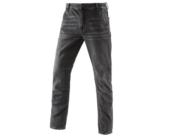 Jeans: e.s. 5-pocket jeans POWERdenim + blackwashed