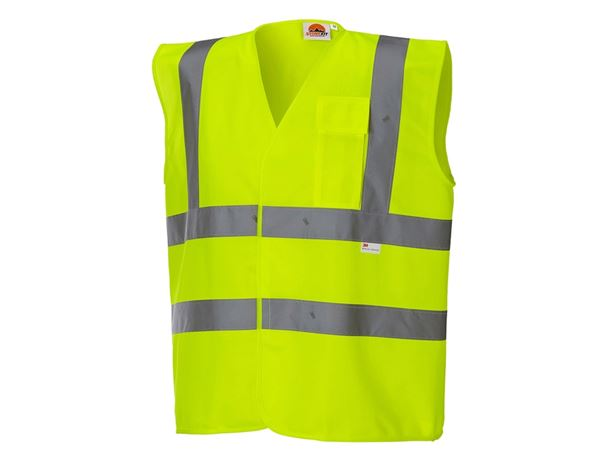 High-Vis Body Warmer: STONEKIT High-vis bodywarmer with pocket + high-vis yellow