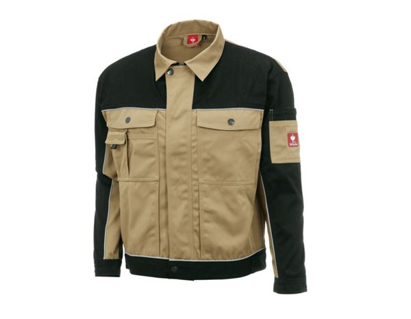 Work Jackets: Work jacket e.s.image + khaki/black