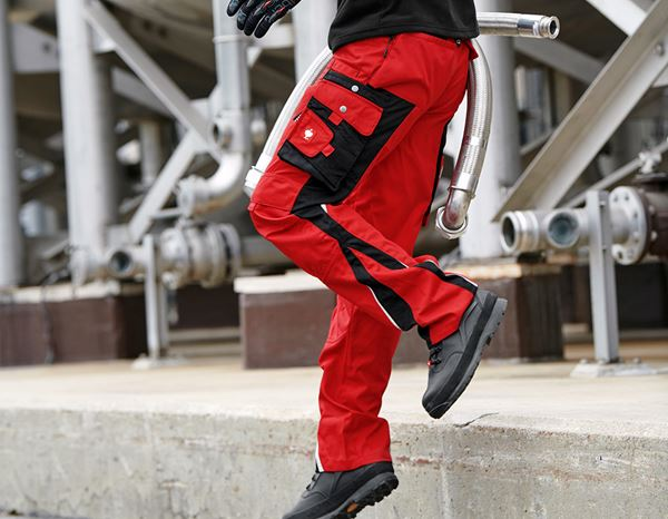 Work Trousers: Trousers e.s.motion Winter + red/black 1